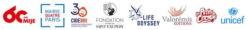 Logos partenaires Convention Internationale des droits de l'enfant